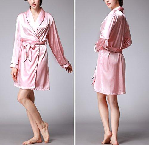 Indumenti da Biancheria Accappatoio Vestaglia Raso Pigiama Kimono Notte Rosso Notte per Camicie Vestaglia Corta Notte da TieNew Abito da Donna Elegante Notte Donna da 6ScR4OZW