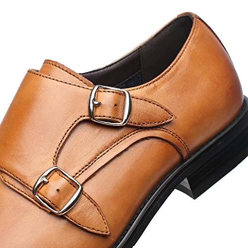 La Milano Mens Double Monk Strap Slip On Loafer Leather Oxford Formal Business Casual Comfortable Dress Shoes for Men by La Milano (Image #6)
