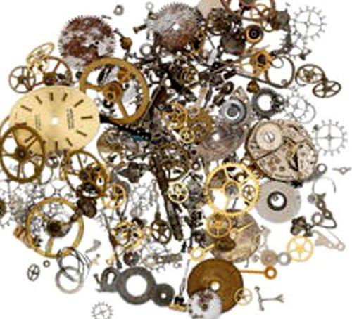 2 Ounces (60 grams) Vintage Watch Parts Pieces - Steampunk Jewelry Parts
