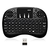 GooBang Doo ABOX 2.4GHz Multi-Media Portable Wireless Handheld Mini Keyboard with Touchpad Mouse for Raspberry Pi, Xbox 360, PS3, PC, PAD, Android TV Box, HTPC- Operating Range up to 20 Meters