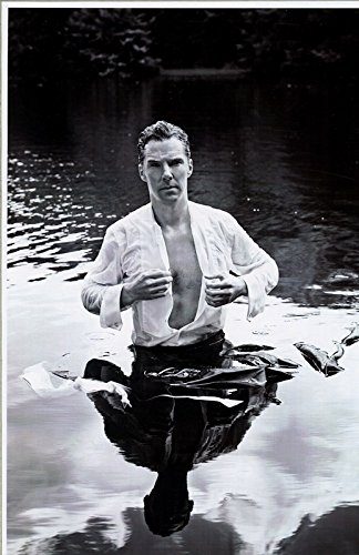 Sherlock Benedict Cumberbatch Wet and Sexy Open Shirt in Water 11 x 17 Poster Litho by Benedict Cumberbatch
