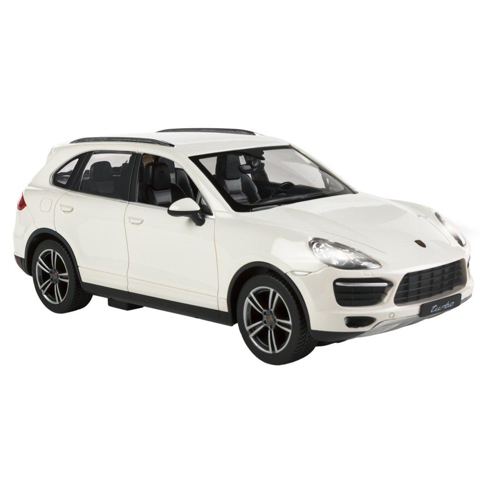 RASTAR - Coche teledirigido 1:14, Porsche Cayenne Turbo Blanco (ColorBaby 85015): Amazon.es: Juguetes y juegos