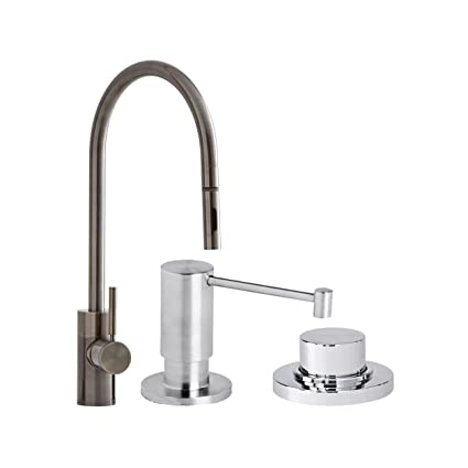 Waterstone 5300 3 Wt Parche Single Handle Kitchen Faucet With Pull