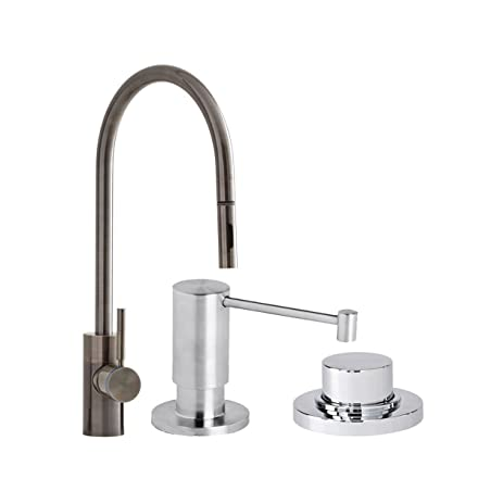 Waterstone 5300 3 Ap Parche Single Handle Kitchen Faucet With Pull