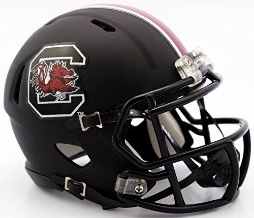 South Carolina Gamecocks Riddell Speed Mini Football Helmet - Black Matte Shell