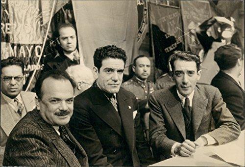 Vintage Photos 1938 Photo Francisco Mujica Luis Rodriguez Lombardo Toledano Union Officer