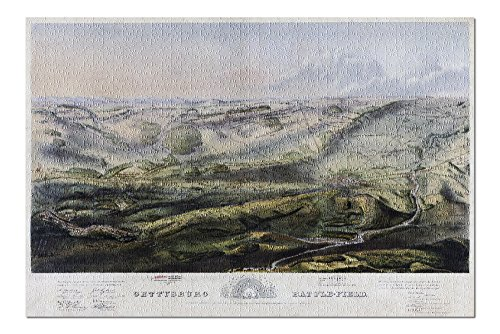 Battle of Gettysburg - Civil War - (1863) - Panoramic Map (20x30 Premium 1000 Piece Jigsaw Puzzle, Made in USA!)