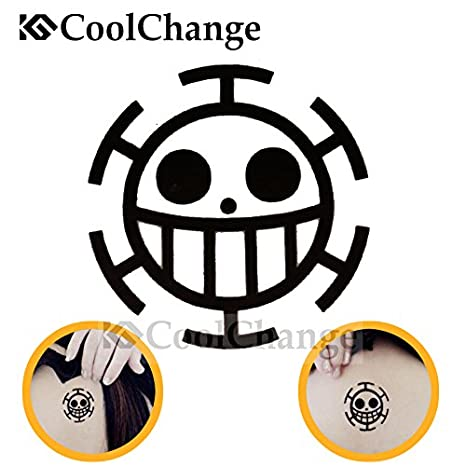 Cool Change One Piece Tatuaje Temporal Adhesivo Diseno Jolly Roger