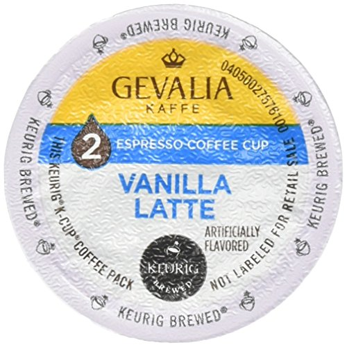 Gevalia Vanilla Latte K-Cup Packs and Froth Packets 100 CALORIES, 9 count (Keurig Coffee Packets compare prices)