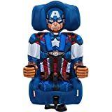 KidsEmbrace Captain America Booster Car Seat, Marvel Avengers Combination Seat, 5 Point Harness, Blue