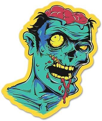 GT Graphics Zombie Brains Vinyl Sticker Waterproof Decal