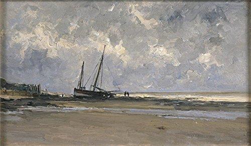 haes-carlos-de-marina-de-villerville-1877-84-oil-painting-24-x-41-inch-61-x-104-cm-printed-on-polyst