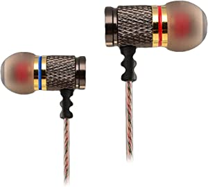 KZ DR1 in-Ear Earphones Heavy Bass Professional Headphones Hi-Fi Earbuds in Ear Headsets for iPad, Tablet, Laptops, MP3/4, iPod, iPhone, Samsung, LG, HTC, etc. (DR1 no Microphone)
