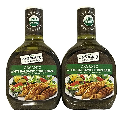 Culinary Treasures Organic White Balsamic Citrus Basil Dressing 2pk