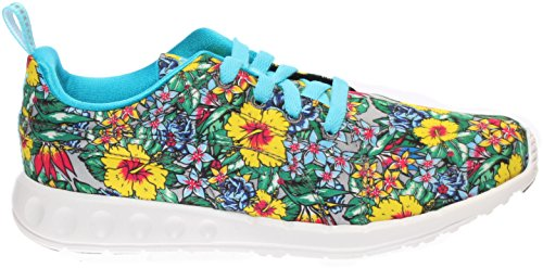 Price comparison product image Puma Womens Carson Runner Hibiscus Floral - Blue Atoll-White Size 9.5