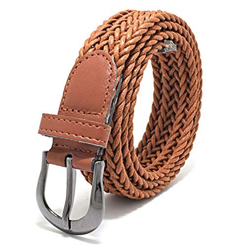 Classic Braided Belt Metal Buckle Hemp Rope Waistband Casual Dress Jeans Woven Waist Belt,Camel (Stores Va In Charlottesville)