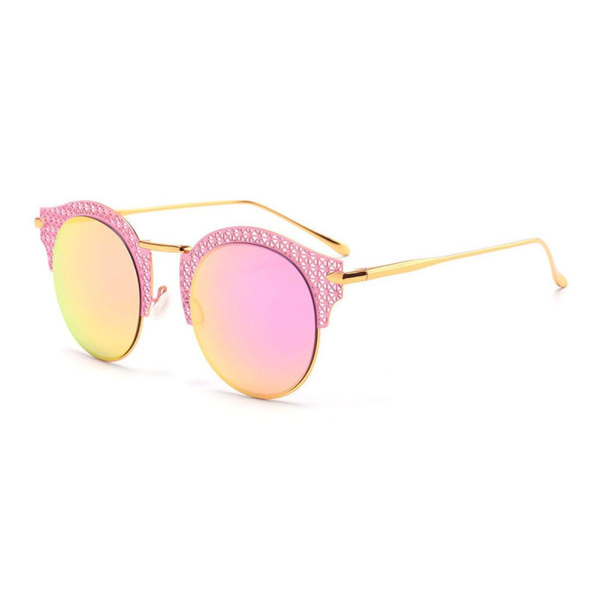 Wkaijc Mode Trend Farbfilm Formatfüllend Damen Persönlichkeit Komfort Reisen Strand Fahrer Sonnenbrille ,Gold