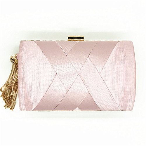 Apricot Sac Pink Handbag Colour Sac Nuptiale Femme Prom Bandoulière Tassel Sac Lovely Emballage Satin rabbit Suspension Color SHqxP6