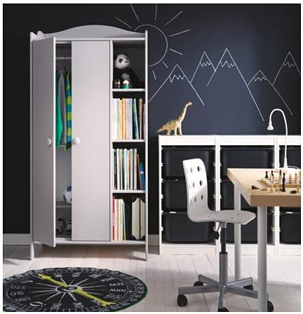 Ikea TROGEN Wardrobe, light grey