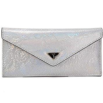 Tanxinxing Cartera de Cuero para Mujer Diseño de Moda Largo Bolsos Bolsos de Moda para Mujer (Color : Silver, Size : S): Amazon.es: Hogar