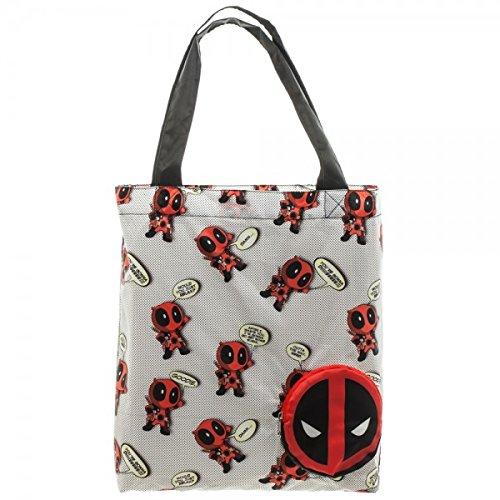 lt3rv9mvu Tote Bag Packable Deadpool Tote Bag Marvel Licensed New HwvqFg8