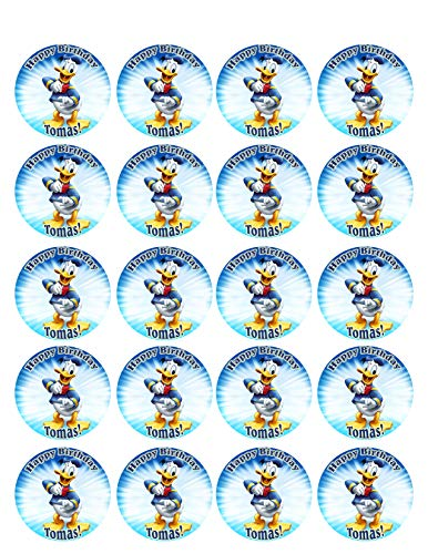 DONALD DUCK - Edible Cupcake Toppers - 1.8
