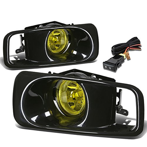 2000 Honda Civic Fog Lights (Honda Civic Driving Bumper Fog Light+Bulbs+Switch (Amber Lens) - 6th Generation EJ EM EK D16 - Facelifted)