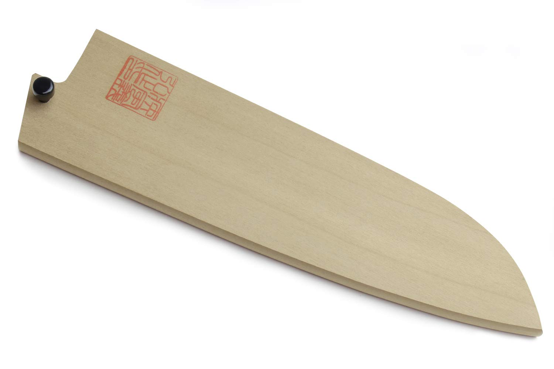 Yoshihiro Natural Magnolia Wood Saya Cover Blade Protector for Santoku (180mm)7in by Yoshihiro