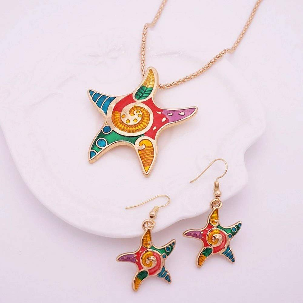 AD: Enamel Alloy Pendant Necklace Set