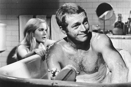 Steve McQueen The Cincinnati Kid in Bathtub hunky scene as Tuesday Weld soaps him 24x36 Poster Silverscreen
