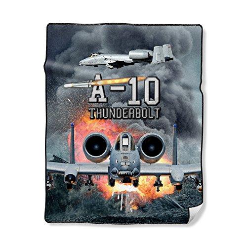 NIWAHO Personalized Throw Blanket Printing USAF Air Force A-10 Warthog Photo, 50X60 ()