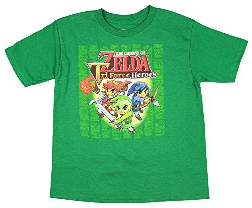 Licensed Nintendo Boy's The Legend Of Zelda Triforce Heroes T-Shirt