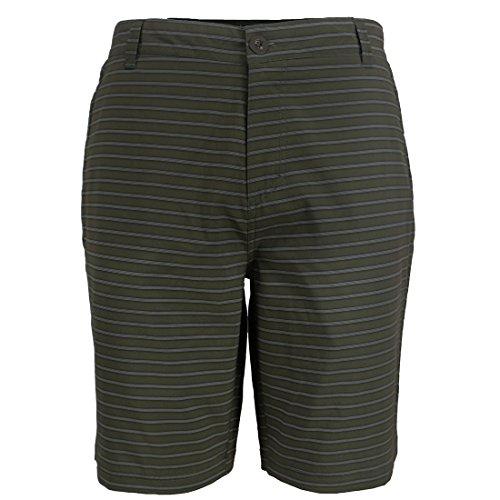 Knee Shorts Clothing Company - Gary Com Mens Shorts Casual with Zipper Pockets Knee Length Striped Golf Flat Front Office Bermuda Short Pants