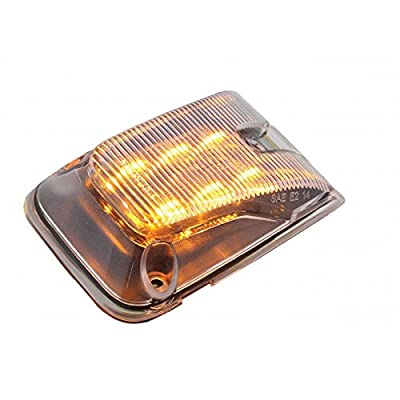 CPW (tm) Volvo VNL 6 LED Side Indicator Marker Light with Clear Lens and Amber LED units (Part Number: 20895320)