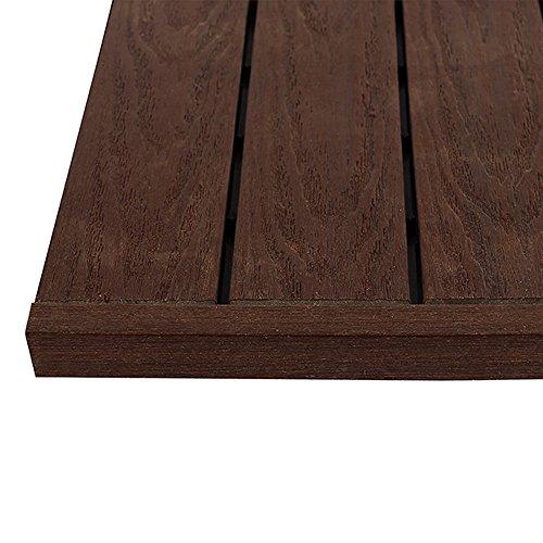 (NewTechWood US-QD-ST-ZX-RW 1/6 x 1 ft. Quick Composite Deck Tile Straight End Corner Fascia in California Redwood (4-Pieces/Box) )