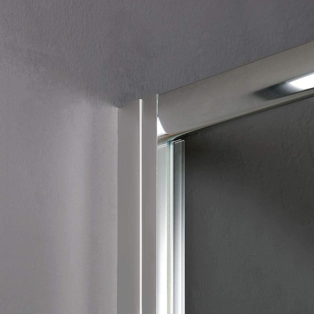 Cabina de ducha deslizante de cristal 75 x 75 de ángulo luna: Amazon.es: Bricolaje y herramientas