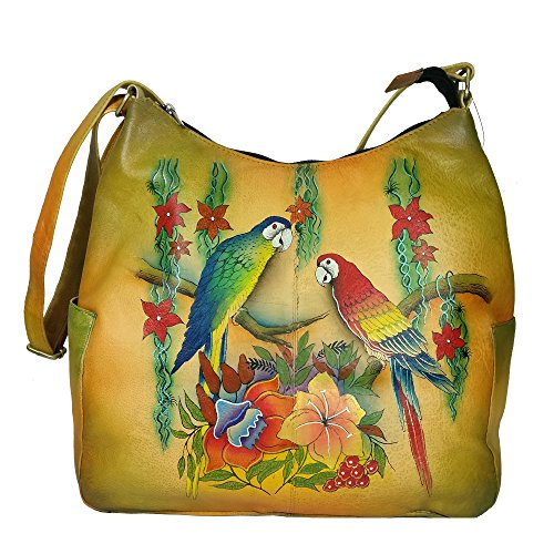 Charmeine Women's Leather Shoulder Bag Painted 38 cm x 33.1 cm x 12 cm Multi Color by Charmeine
