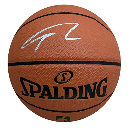 Giannis Antetokounmpo Milwaukee Bucks Autographed NBA Signed Basketball Greek Freak PSA DNA COA Silver