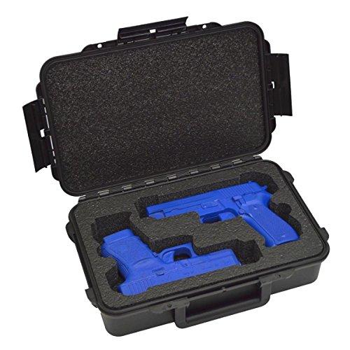 Doro Cases 2 Pistol Gun Carry Case - Double Handgun TSA Approved Storage Carrier with Military Grade Foam Insert
