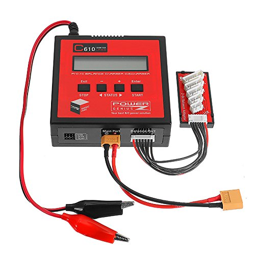 MAUBHYA Power Genius PG C610 120W 10A Lipo Battery Balance Charger Support 4.35-4.40V LiHV by MAUBHYA