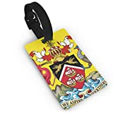 KODW12 Coat of Arms of Trinidad and Tobago Luggage Tag Travel Bag Labels Suitcase Bag Tag Name Address Cards