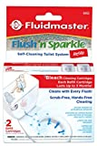 Fluidmaster 8302P8 Flush 'n Sparkle Automatic Toilet Bowl Cleaning System Refills, Bleach 2-Pack
