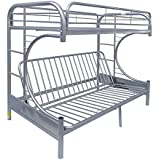 ComfortScape CS-02093SI Twin XL Futon Bunk Bed, Queen