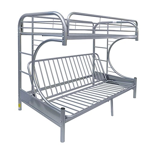 Acme Eclipse Futon Bunk Bed, Twin X-Large/Queen, Silver