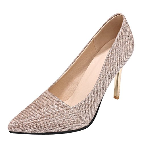 Mee Shoes Women's Dance Stiletto High Heel Court Shoes Gold