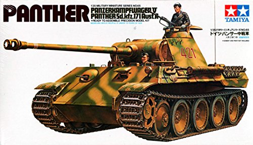 Tamiya tank model 35065 assembly 1/35 A World War II German Panther tank ()