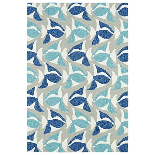 Kaleen Rugs Sea Isle Collection SEA10-17 Blue Handmade 7'6 x 9' Rug (Beach Collection Sand)