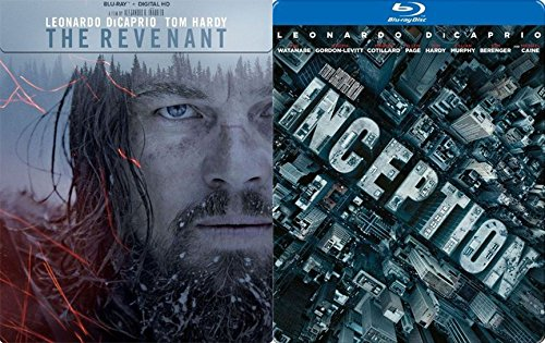 (Steelbook Inception & The Revenant Exclusive Blu Ray 2 Pack Leonardo DiCaprio Movie Double Feature Special Edition Set)