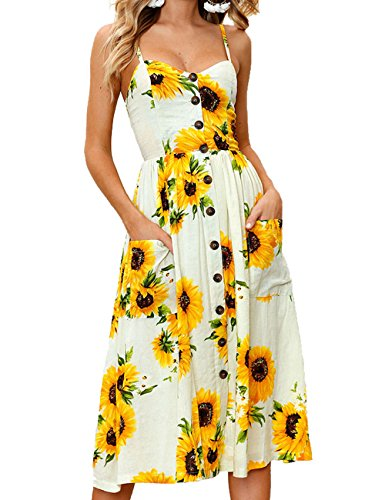 sandals Miouke Women Dresses Floral Summer Bohemian Spaghetti Strap Swing Dress Sexy Beach Midi Dress