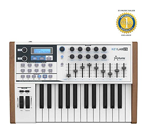 Arturia KeyLab 25 25-Key MIDI Controller with 1 Year Free Extended Warranty by Arturia